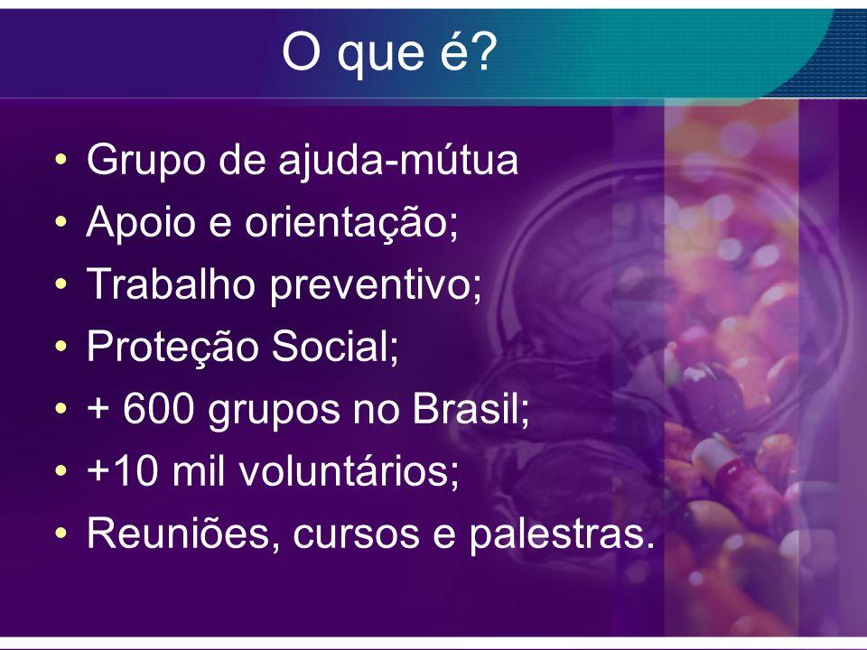 O que é Grupo de ajuda-mútua Apoio e orientação; Trabalho preventivo;