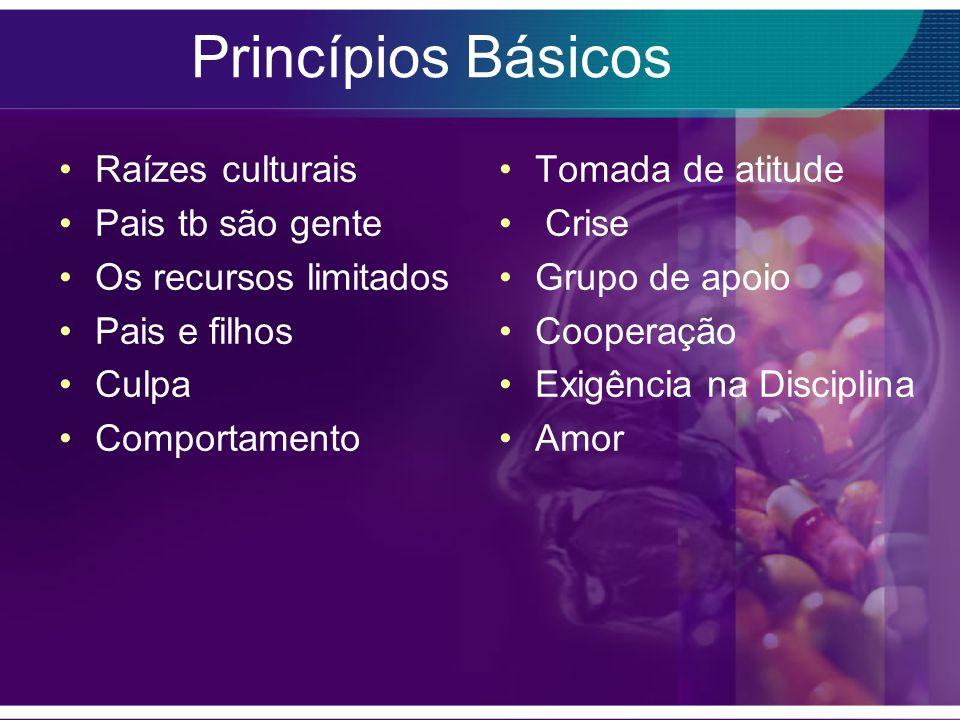 Princípios Básicos Raízes culturais Pais tb são gente