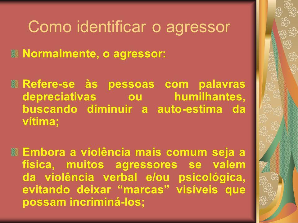 Como identificar o agressor