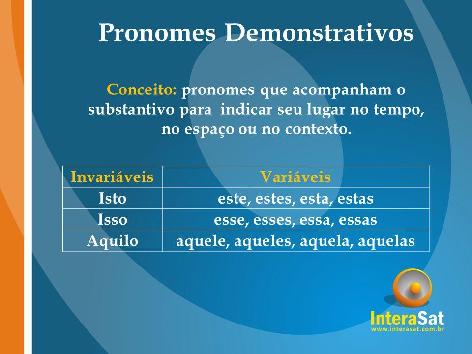 Pronomes Demonstrativos aquele, aqueles, aquela, aquelas