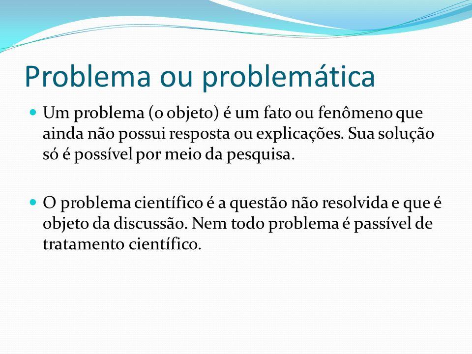 Problema ou problemática