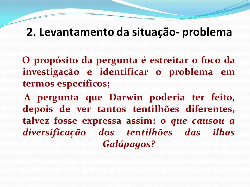 2. Levantamento da situação- problema