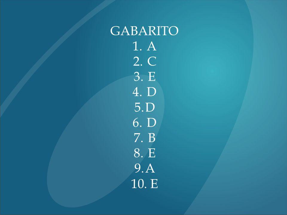 GABARITO A C E D B 17