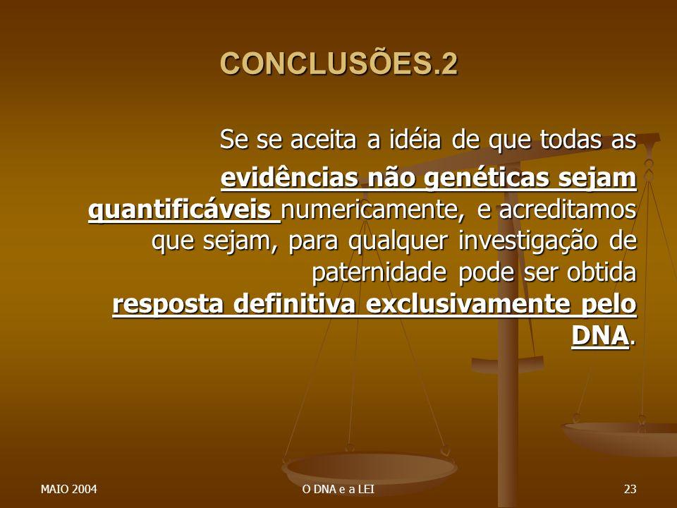 CONCLUSÕES.2 Se se aceita a idéia de que todas as