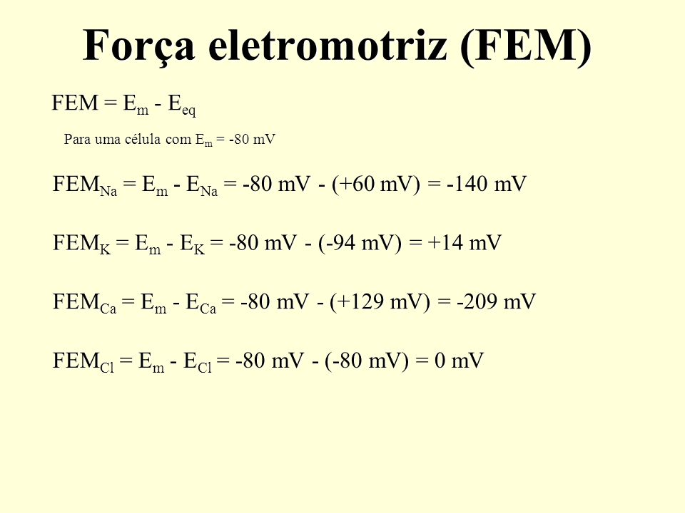 Força eletromotriz (FEM)