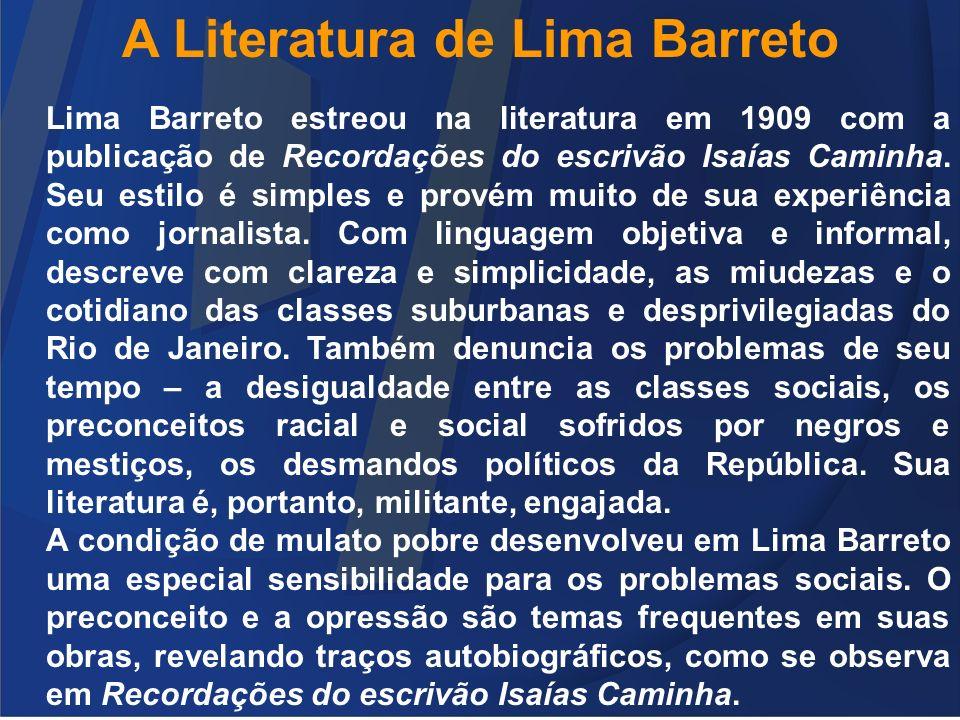 A Literatura de Lima Barreto