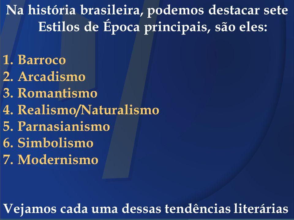 Realismo/Naturalismo Parnasianismo Simbolismo Modernismo
