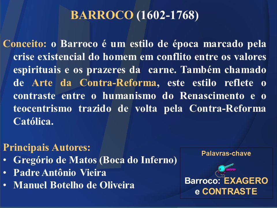 Barroco: EXAGERO e CONTRASTE