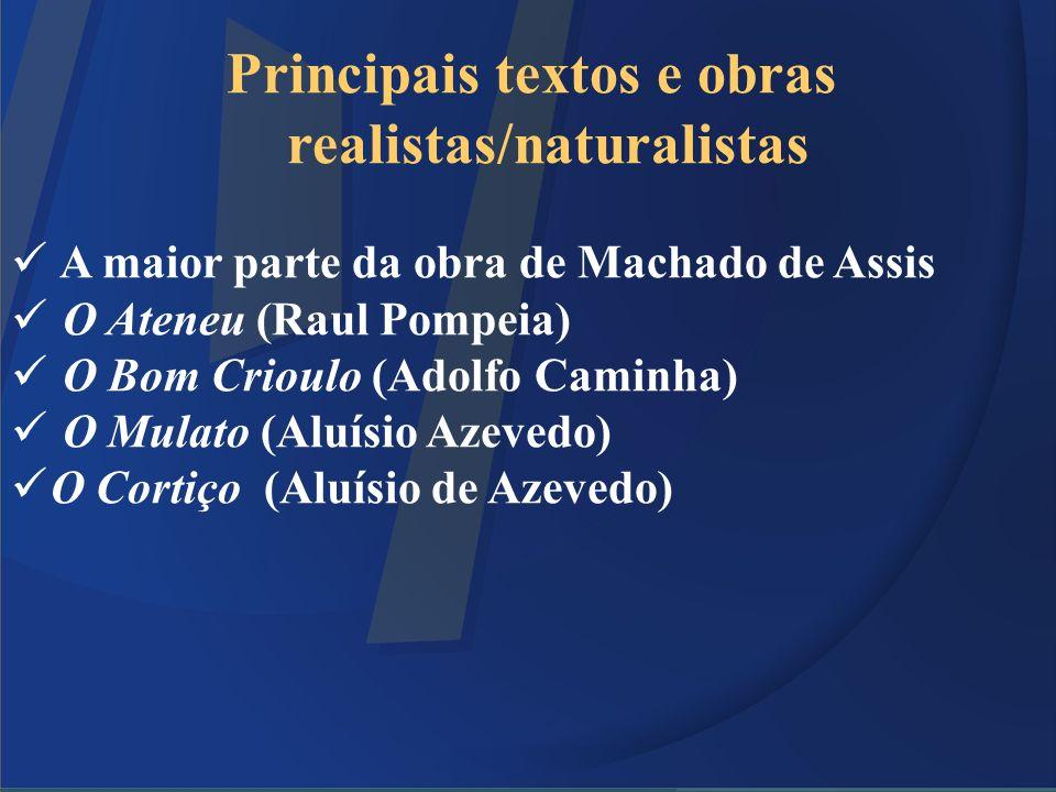 Principais textos e obras realistas/naturalistas