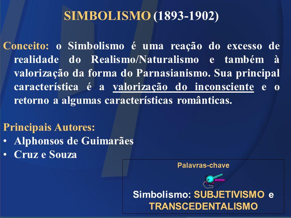 Simbolismo: SUBJETIVISMO e TRANSCEDENTALISMO