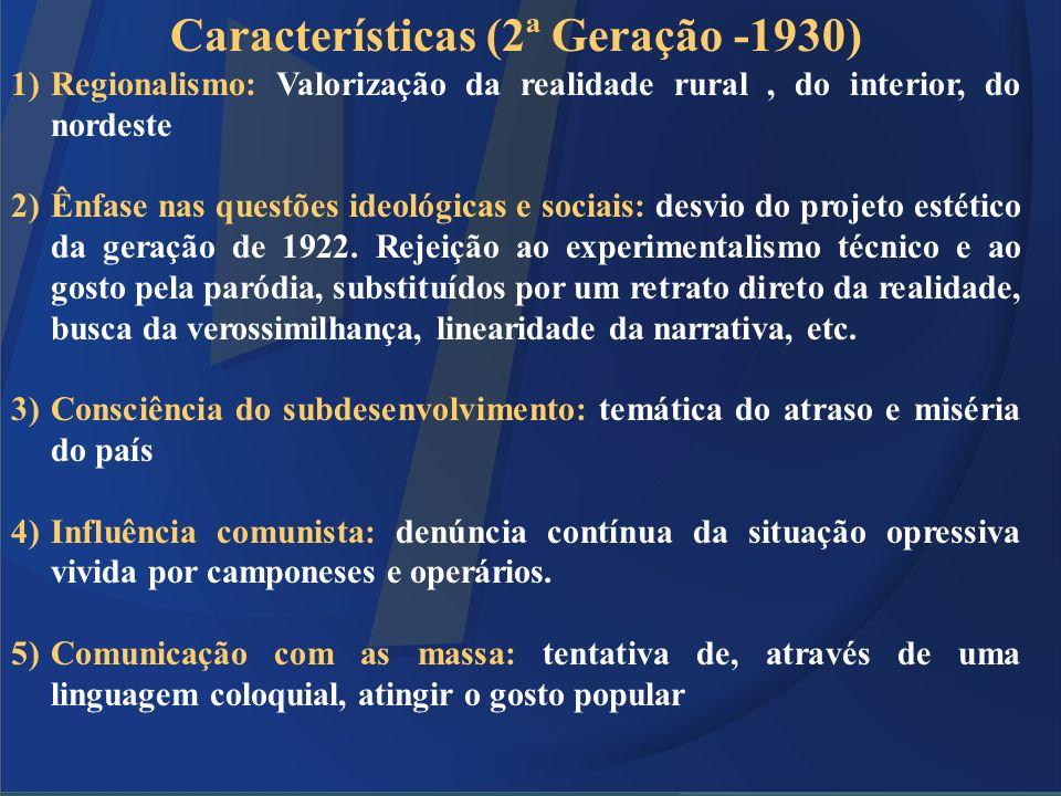 Características (2ª Geração -1930)