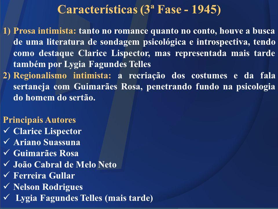 Características (3ª Fase - 1945)