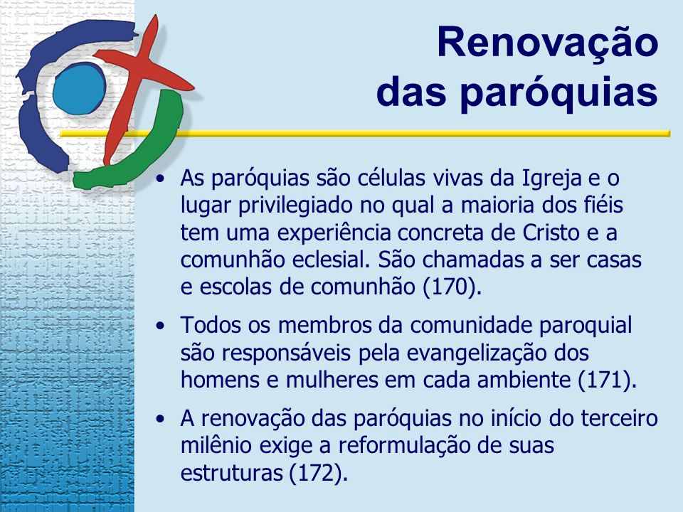 Renovação das paróquias