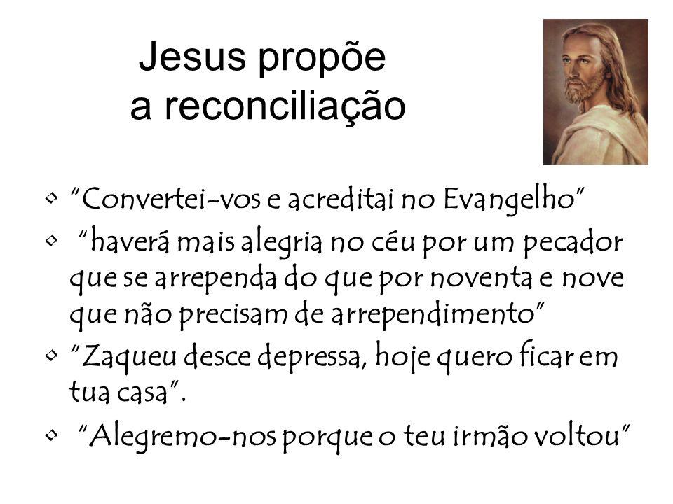 Jesus propõe a reconciliação