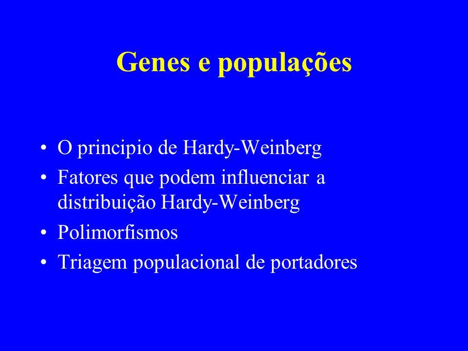 Genes e populações O principio de Hardy-Weinberg