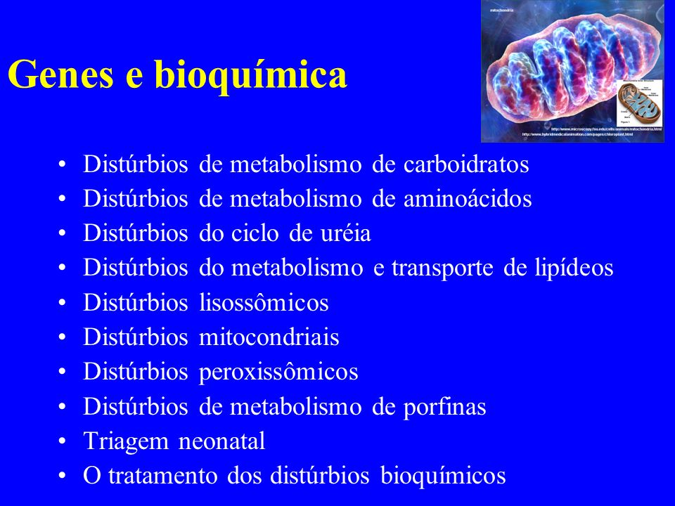 Genes e bioquímica Distúrbios de metabolismo de carboidratos