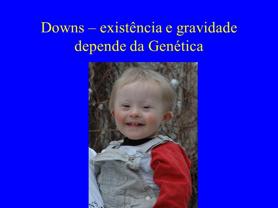 Downs – existência e gravidade depende da Genética
