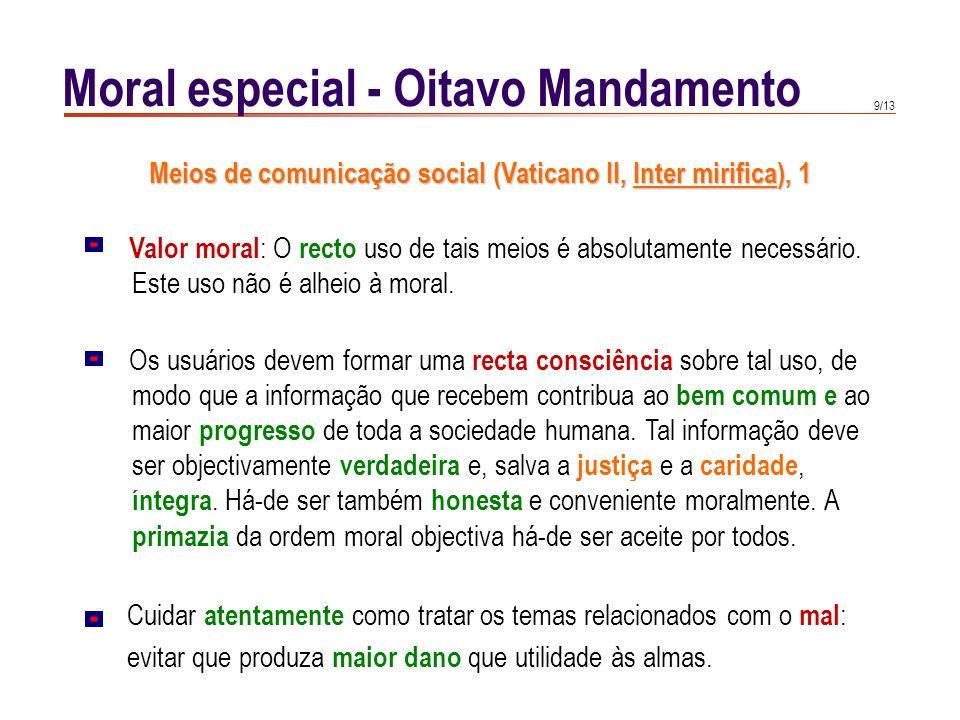 Moral especial - Oitavo Mandamento