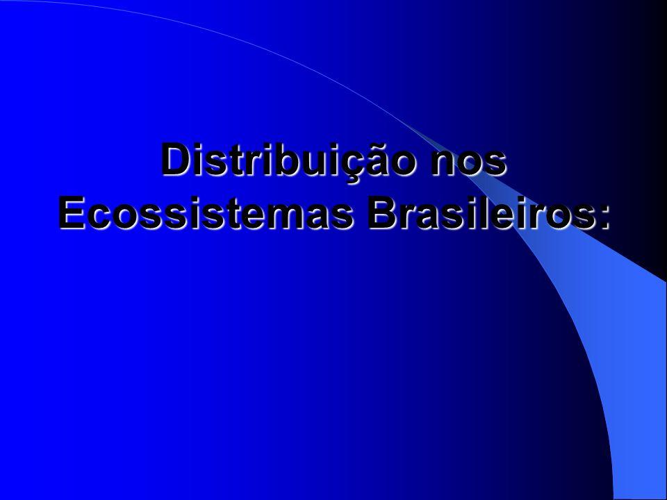 Distribuição nos Ecossistemas Brasileiros: