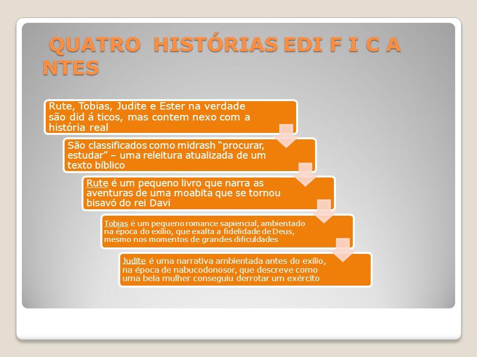 QUATRO HISTÓRIAS EDI F I C A NTES