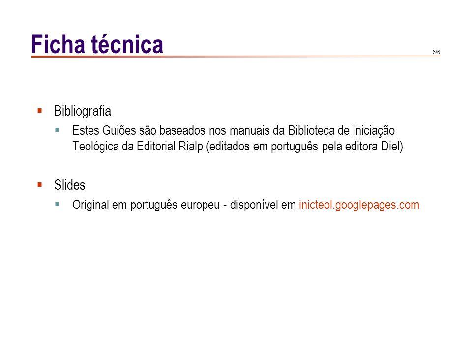 Ficha técnica Bibliografia Slides