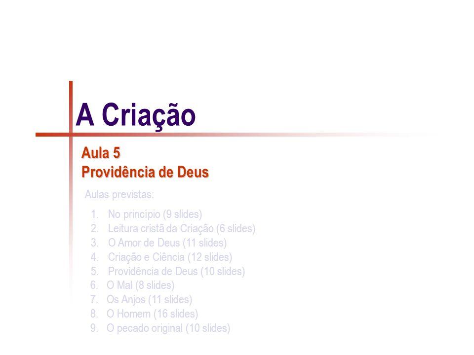 Aula 5 Providência de Deus