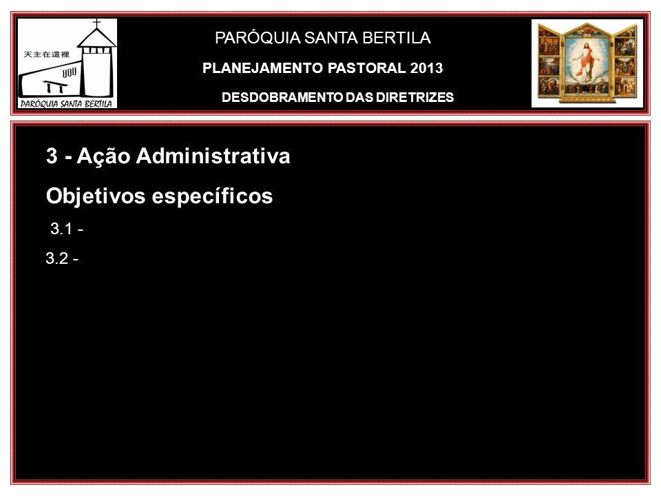 PLANEJAMENTO PASTORAL 2013 DESDOBRAMENTO DAS DIRETRIZES