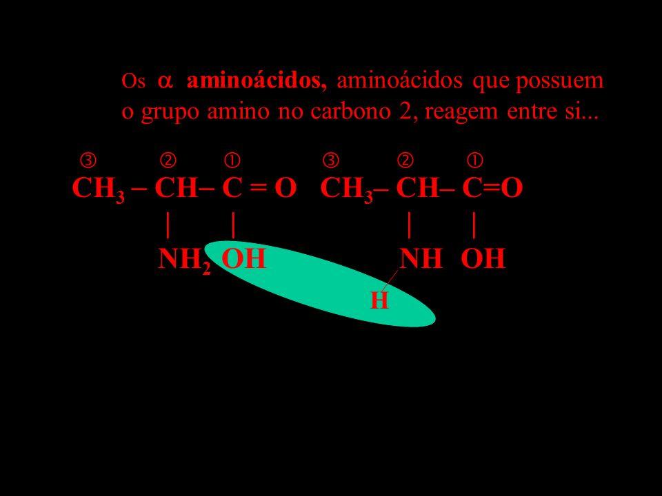 CH3  CH C = O CH3– CH– C=O | | | | NH2 OH NH OH