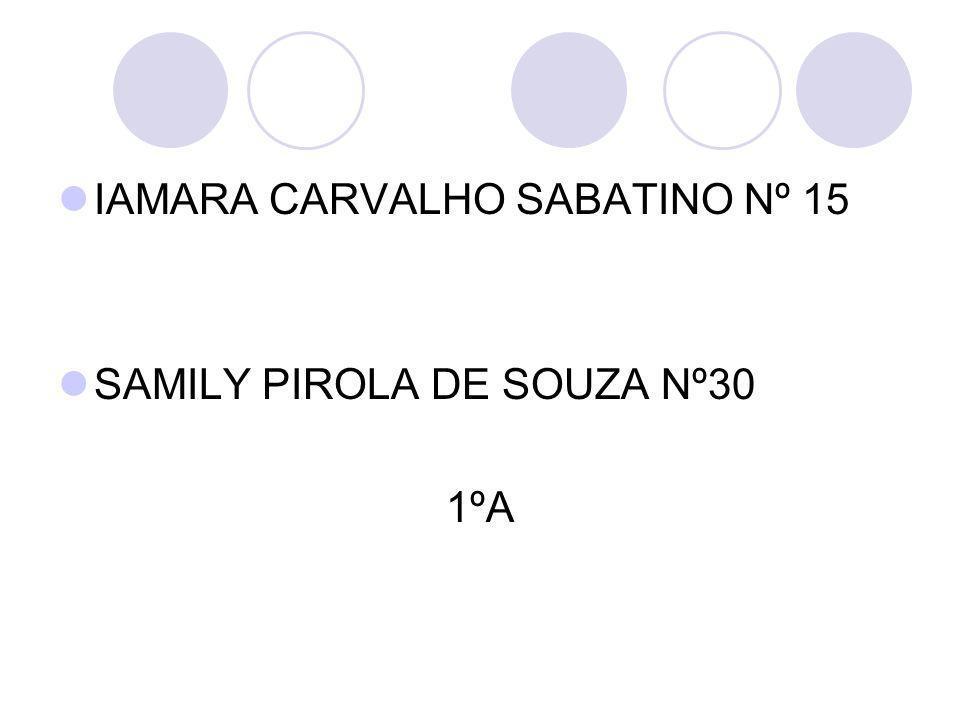 IAMARA CARVALHO SABATINO Nº 15
