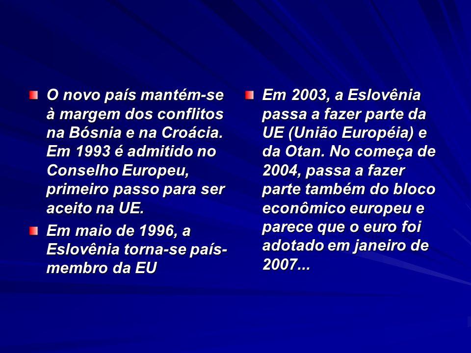 O novo país mantém-se à margem dos conflitos na Bósnia e na Croácia