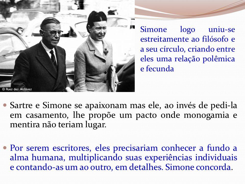 Simone logo uniu-se estreitamente ao filósofo e a seu círculo, criando entre eles uma relação polêmica e fecunda