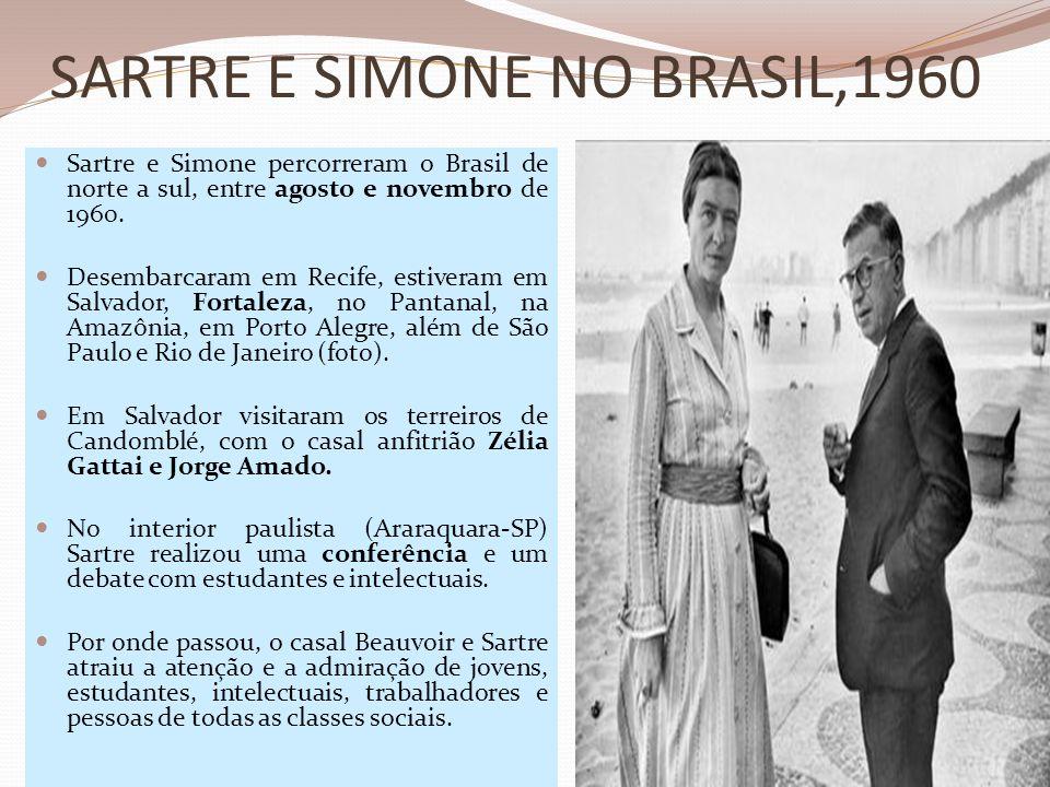 SARTRE E SIMONE NO BRASIL,1960