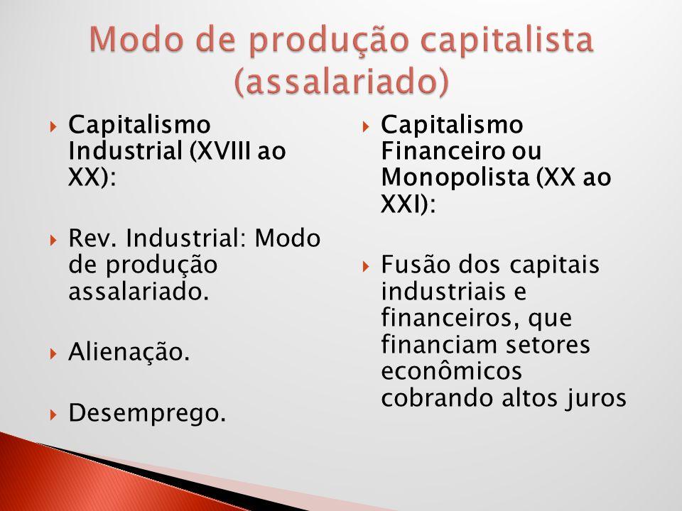 Modo de produção capitalista (assalariado)