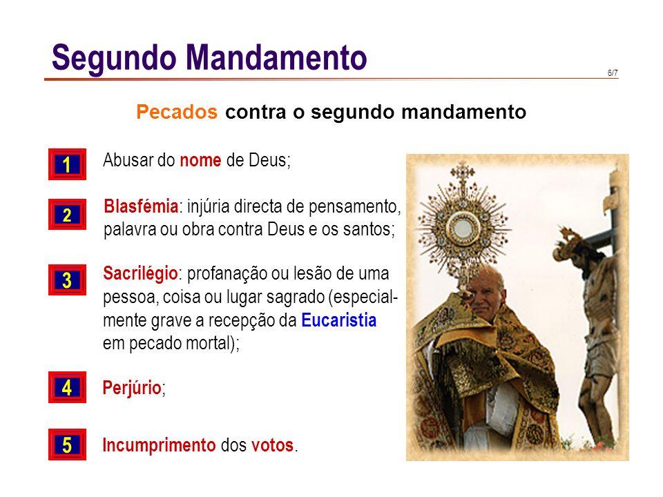 Pecados contra o segundo mandamento