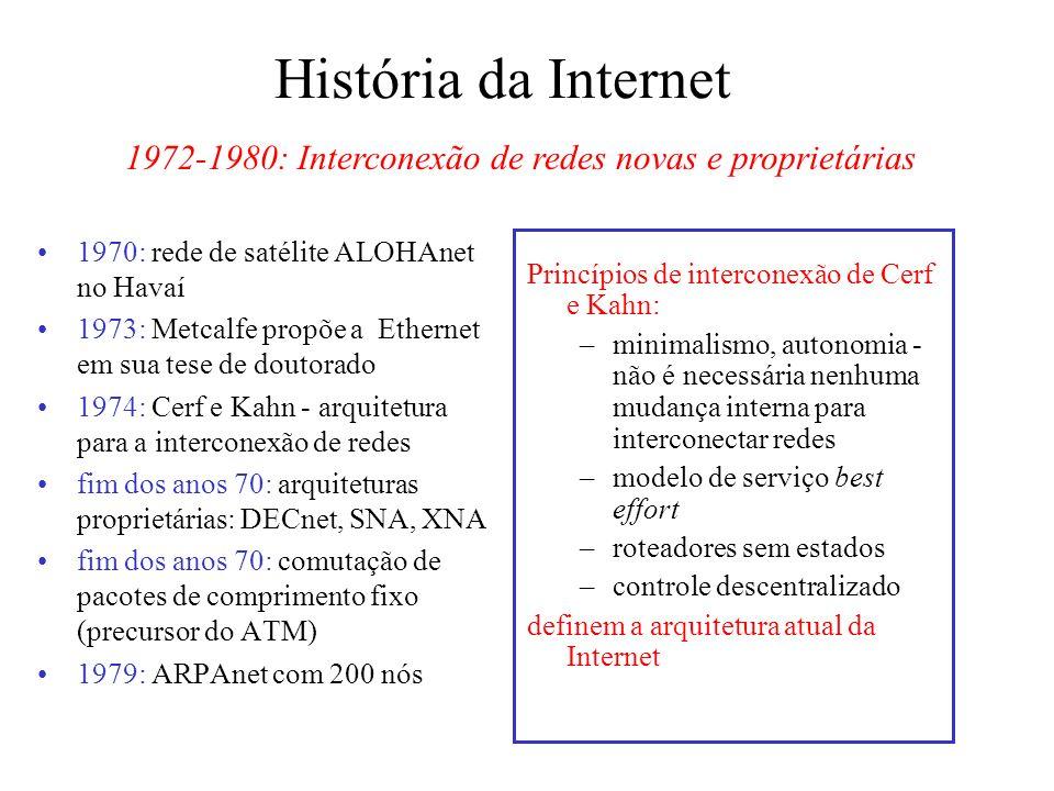 1972-1980: Interconexão de redes novas e proprietárias
