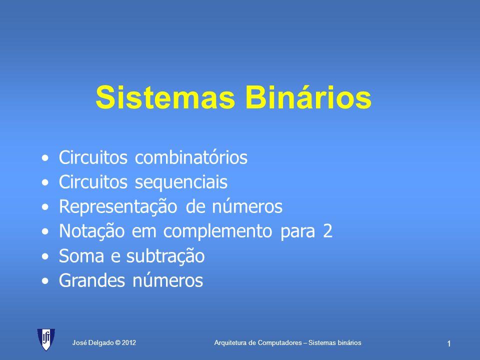 Sistemas Binários Circuitos combinatórios Circuitos sequenciais