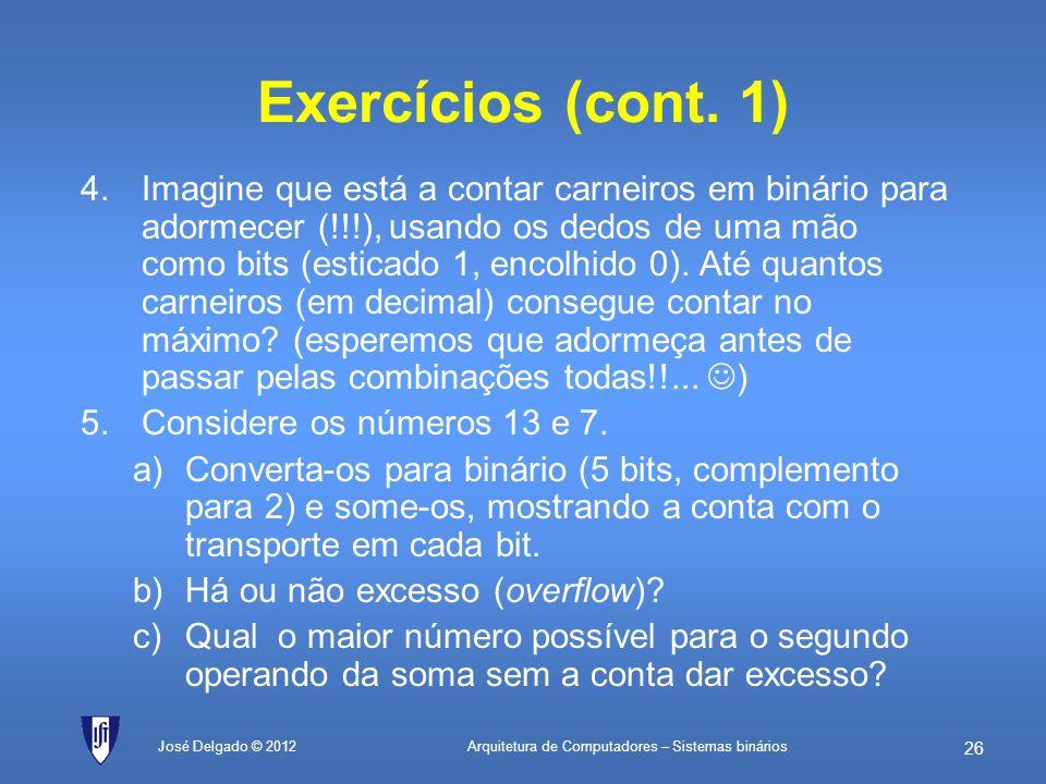 Exercícios (cont. 1)
