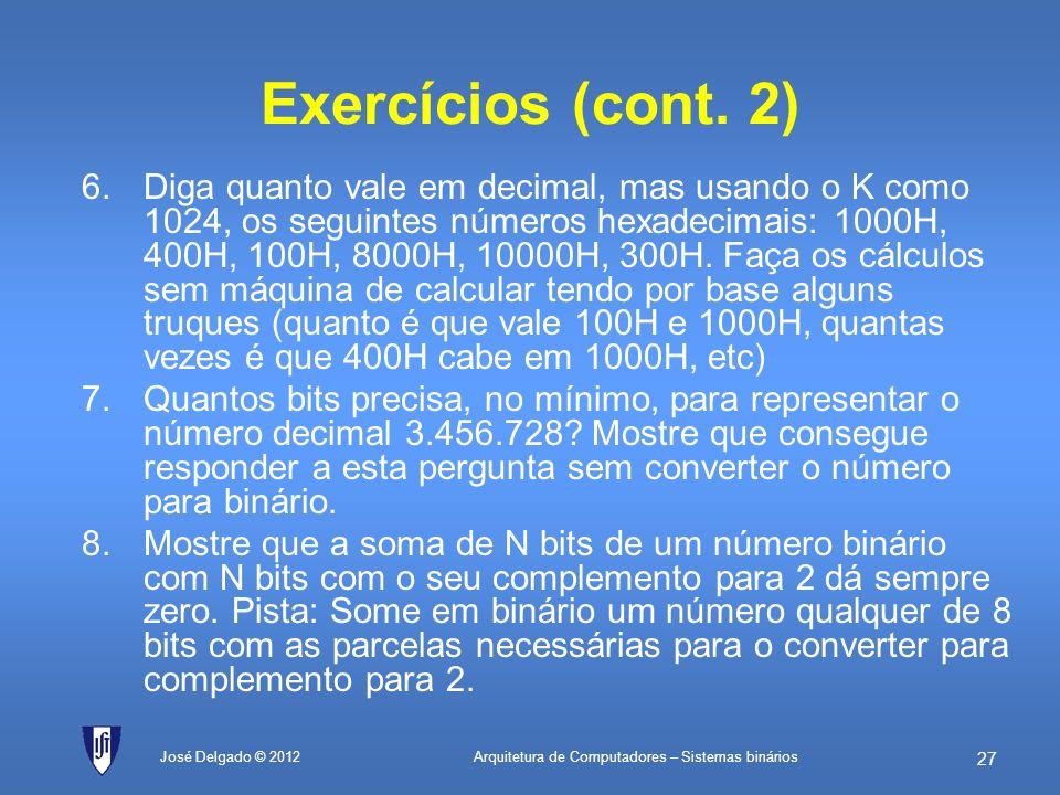 Exercícios (cont. 2)