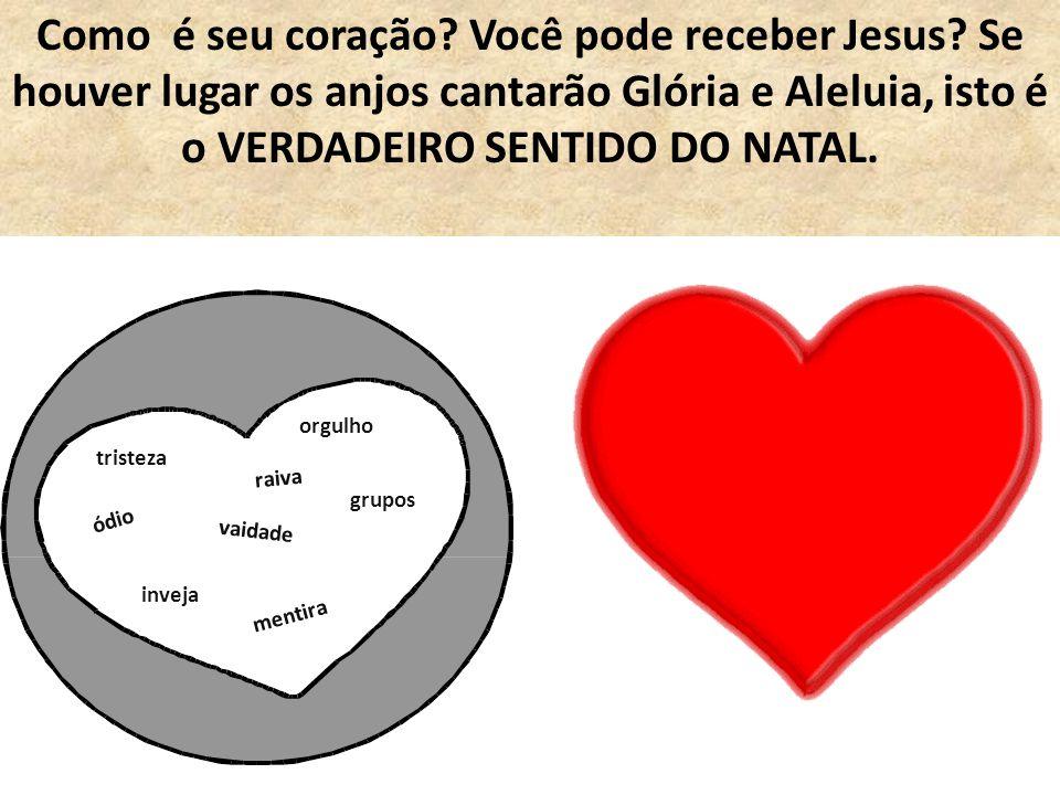 Como é seu coração. Você pode receber Jesus
