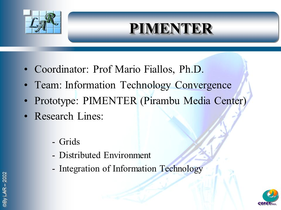 PIMENTER Coordinator: Prof Mario Fiallos, Ph.D.
