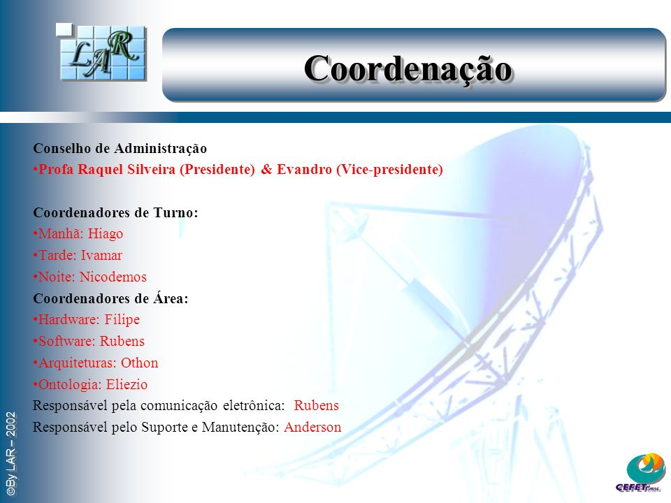 Coordenação Conselho de Administração