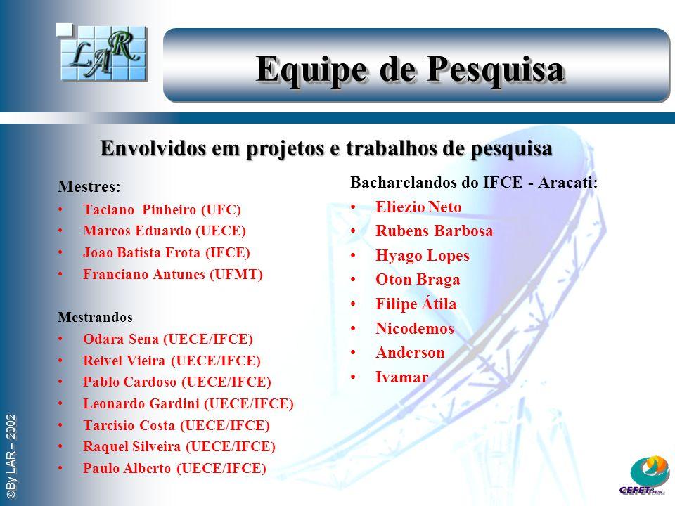 Equipe de Pesquisa Envolvidos em projetos e trabalhos de pesquisa