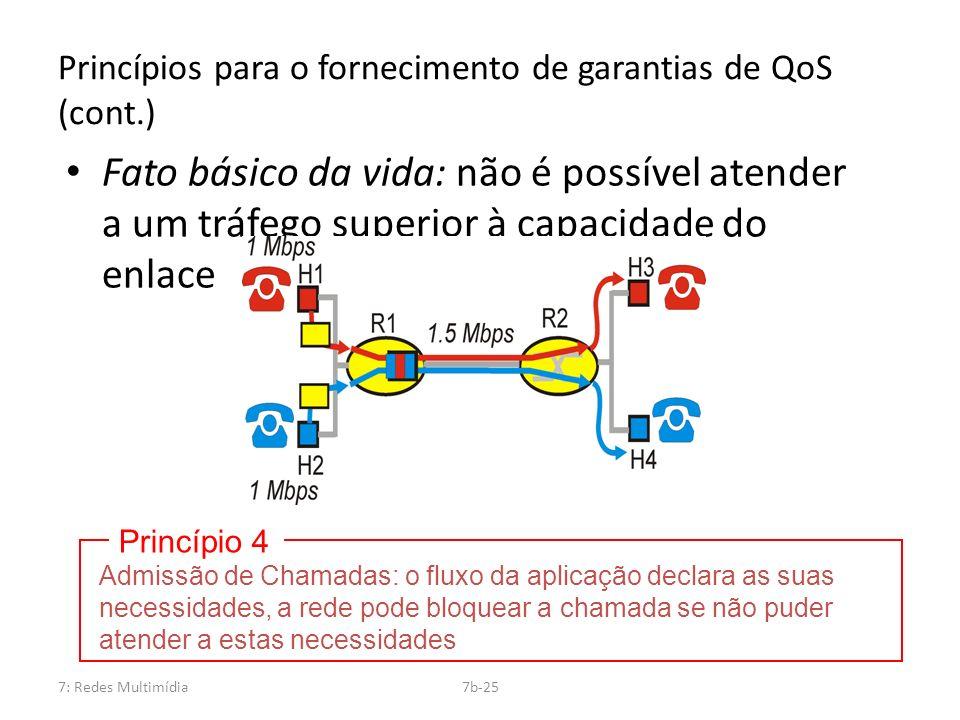 Princípios para o fornecimento de garantias de QoS (cont.)
