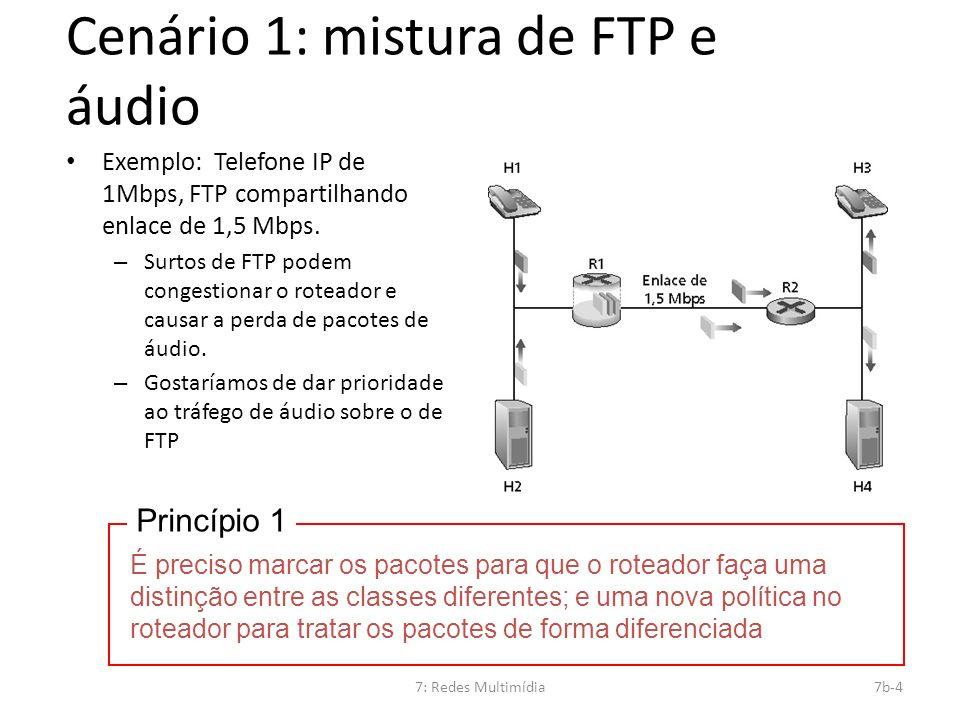 Cenário 1: mistura de FTP e áudio