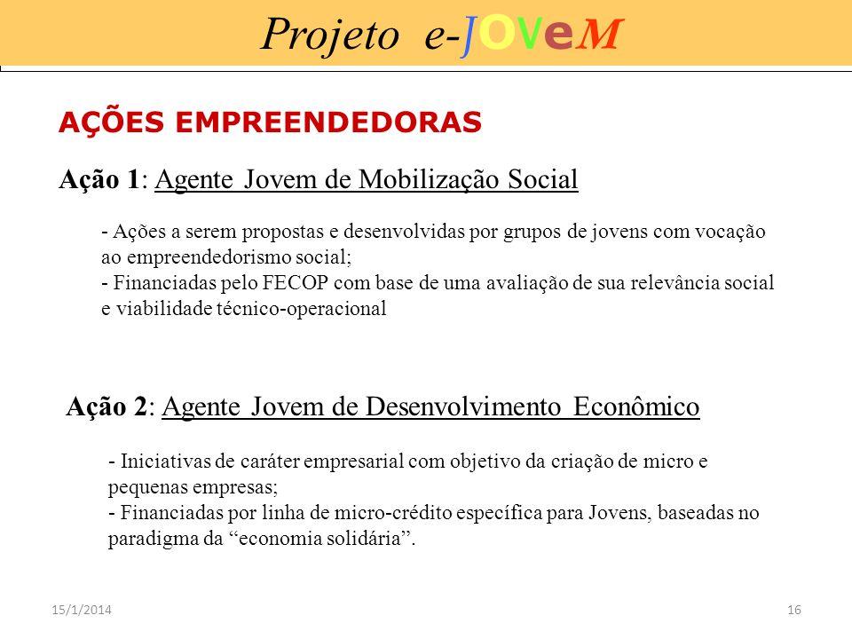 Projeto e-JOVeM AÇÕES EMPREENDEDORAS