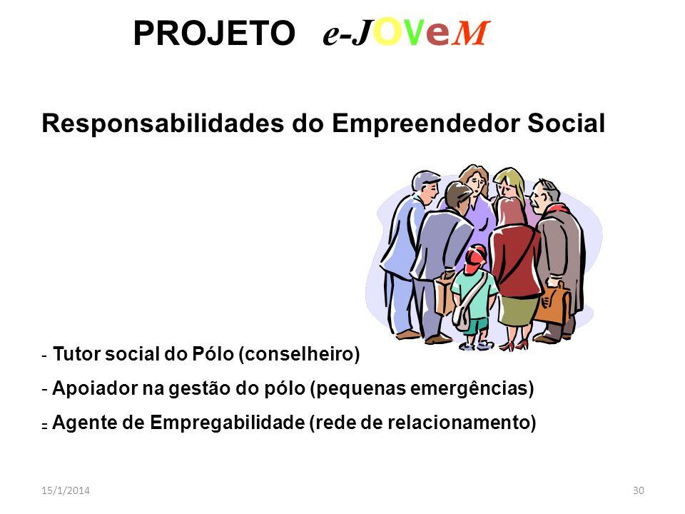 PROJETO e-JOVeM Responsabilidades do Empreendedor Social