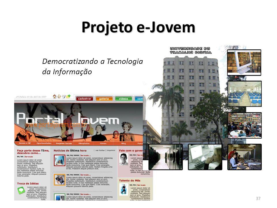 Projeto e-Jovem Democratizando a Tecnologia da Informação 25/03/2017