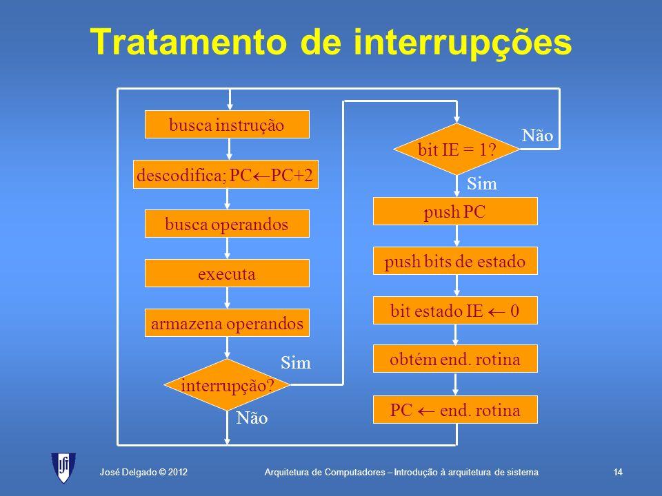 Tratamento de interrupções