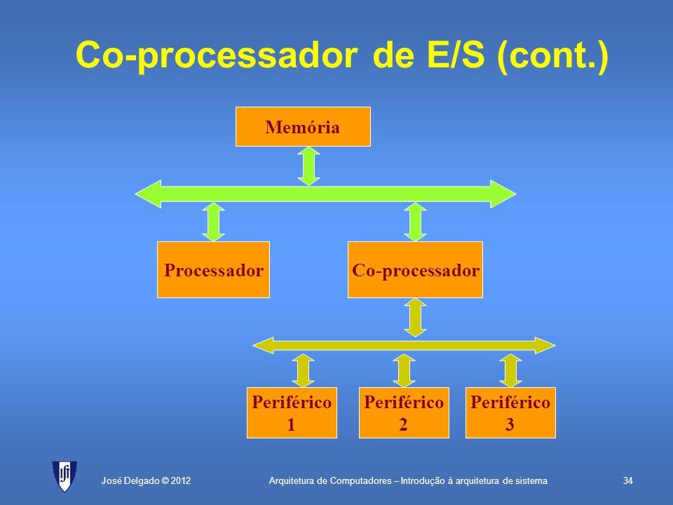 Co-processador de E/S (cont.)