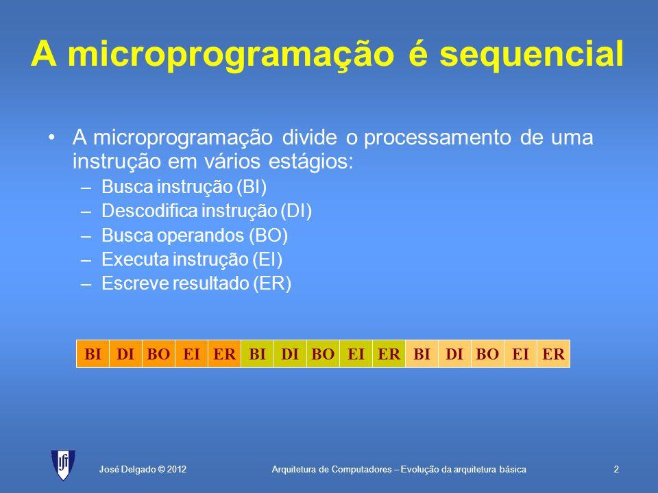 A microprogramação é sequencial